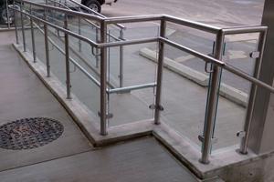 Toronto railings design for balconies glass stainless for Stainless steel balcony grill design